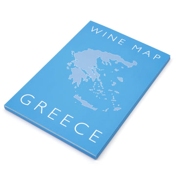 Wine Map of Greece Bookshelf Edition Box