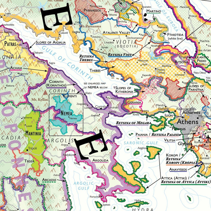 Wine Map of Greece - Digital Edition Detail