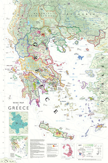 Wine Map of Greece