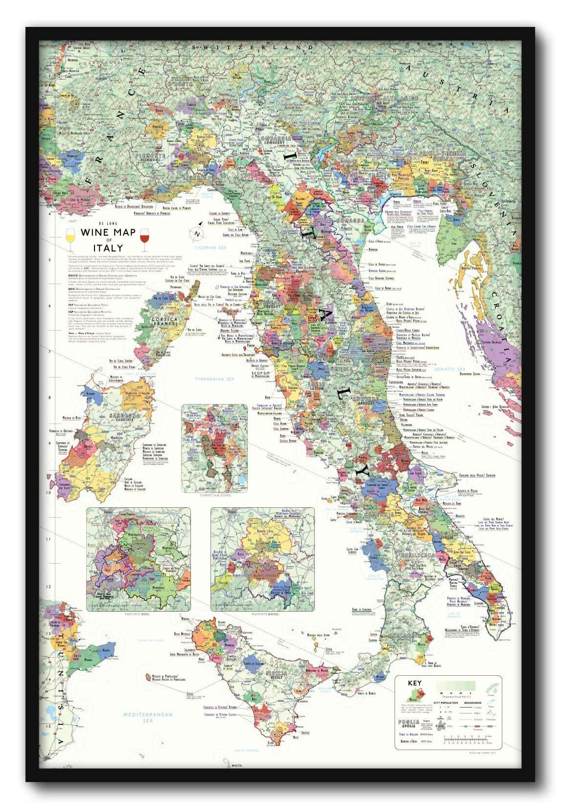 Map Of Best Food From Every State: Wine Map Of Italy