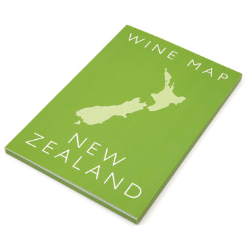 Wine Map of New Zealand Bookshelf Edition Box