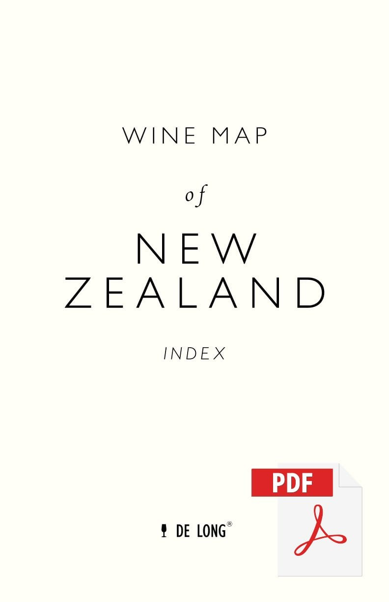 Wine Map of New Zealand - Digital Edition Index
