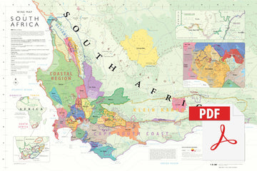 Wine Map of South Africa - Digital Edition