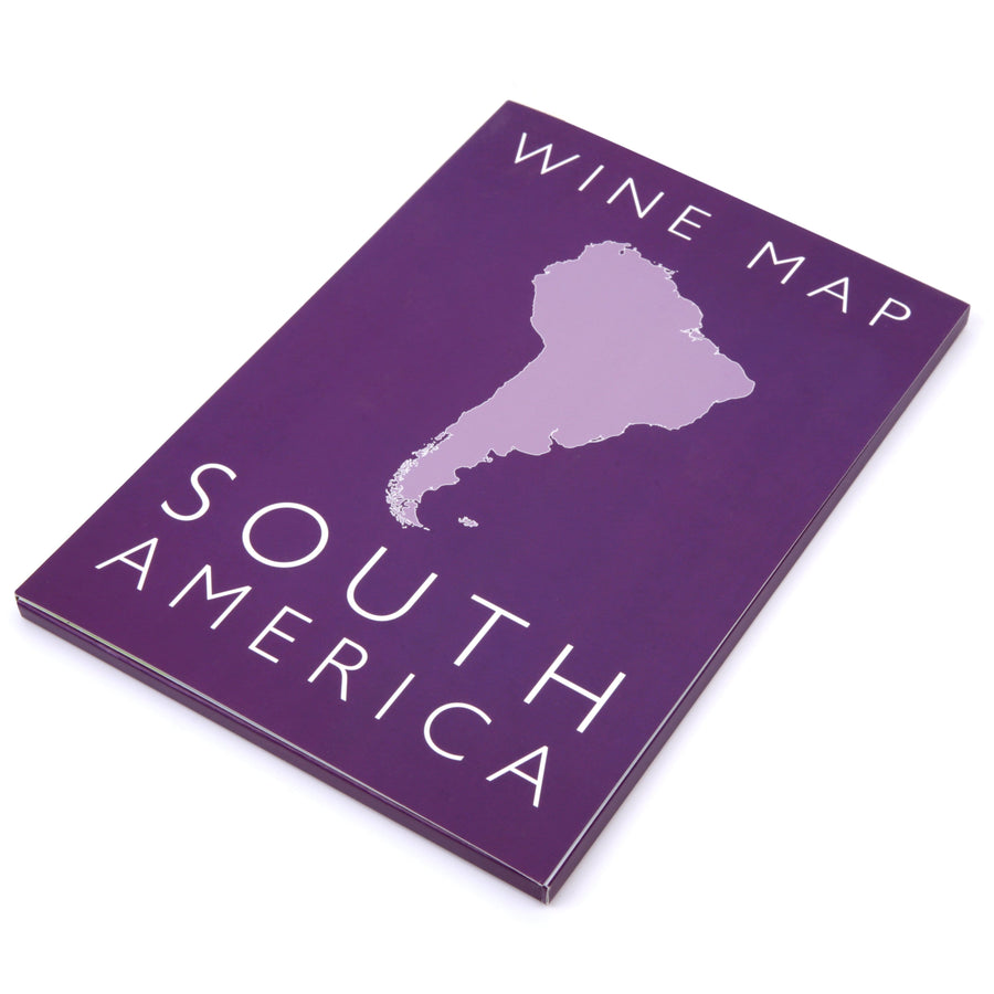 Wine Map of South America Bookshelf Edition Box