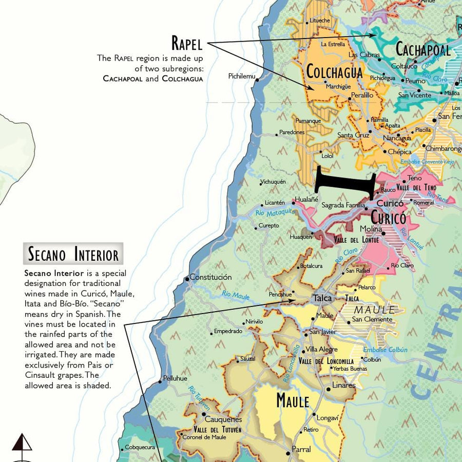 Wine Map of South America - Digital Edition Detail
