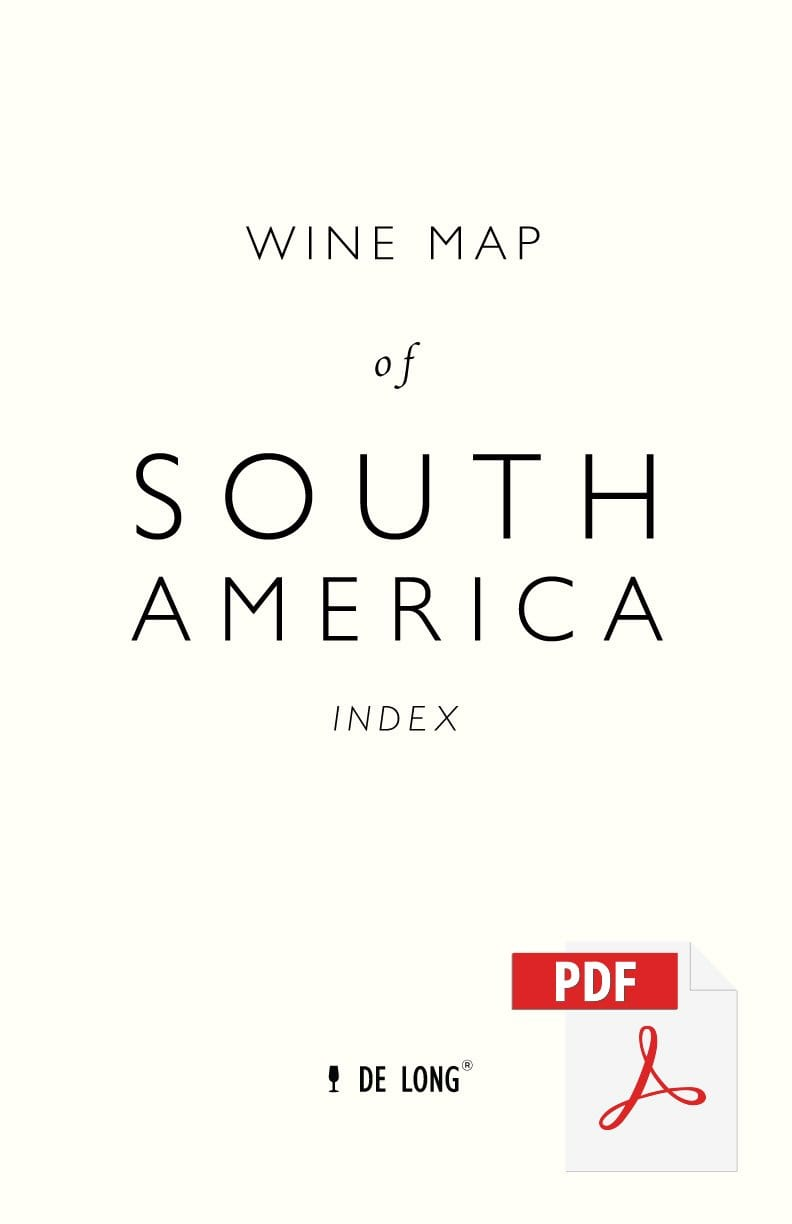 Wine Map of South America - Digital Edition Index