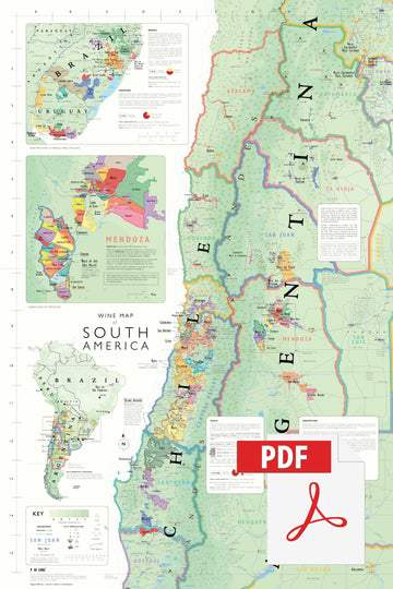 Wine Map of South America - Digital Edition