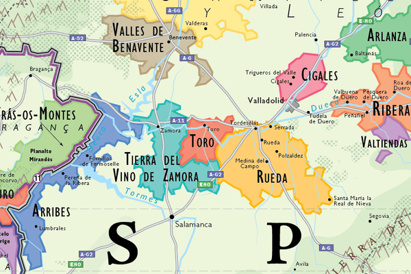 Map Of Spain To Print.Wine Map Of Spain Portugal Framed