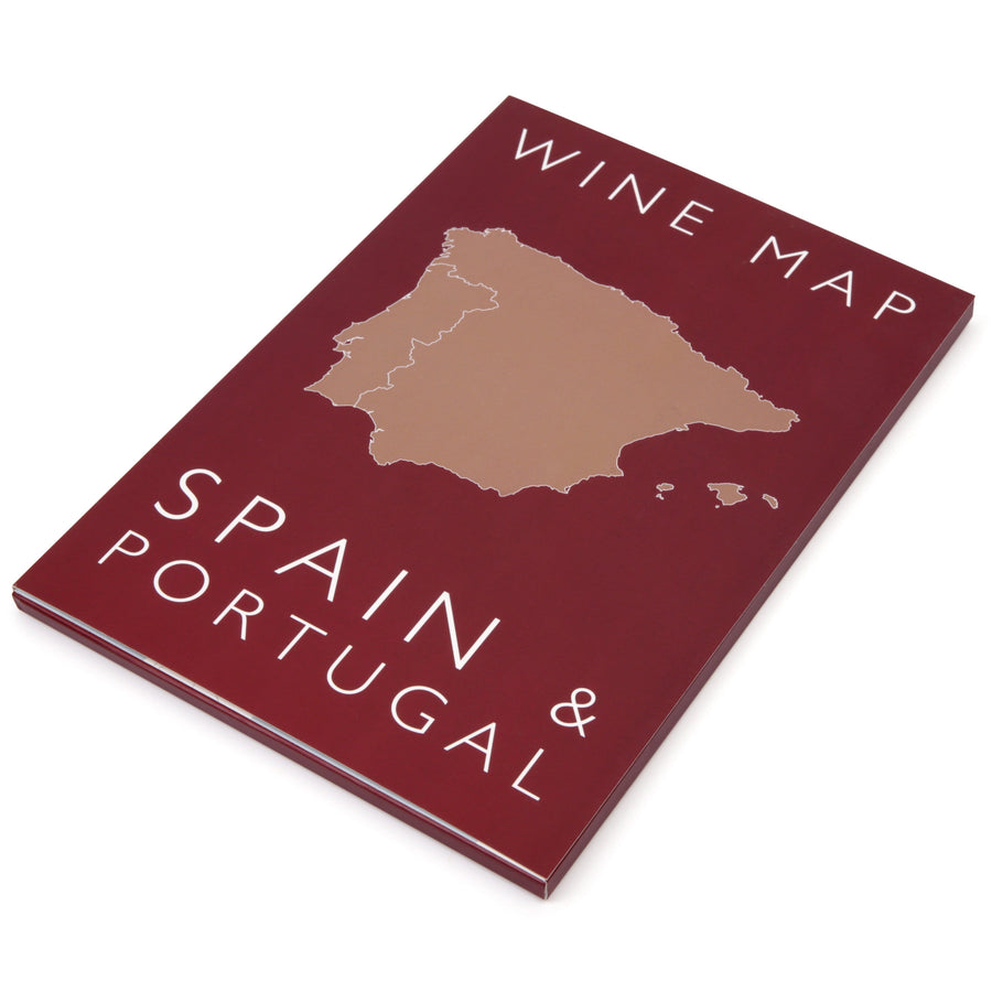 Wine Map of Spain & Portugal - Bookshelf Edition box