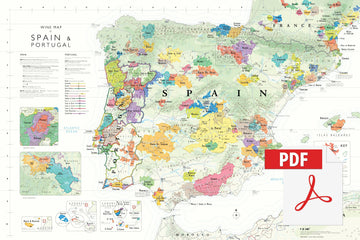 Wine Map of Spain & Portugal - Digital Edition