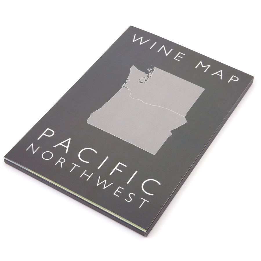 Wine Map of the Pacific Northwest Bookshelf Edition Box