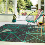 Laagpolig vloerkleed Easy Living Prism Rug Green