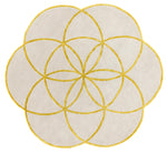Rond vloerkleed Easy Living Lotus Rug Gold