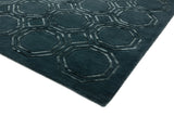 Laagpolig vloerkleed Easy Living Nexus Rug Octagon Petrol