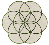 Rond vloerkleed Easy Living Lotus Rug Green