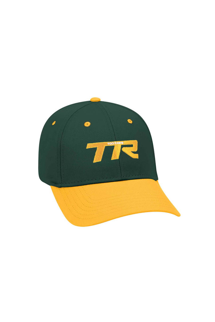 Raww Logo Hat  - Green/Yellow