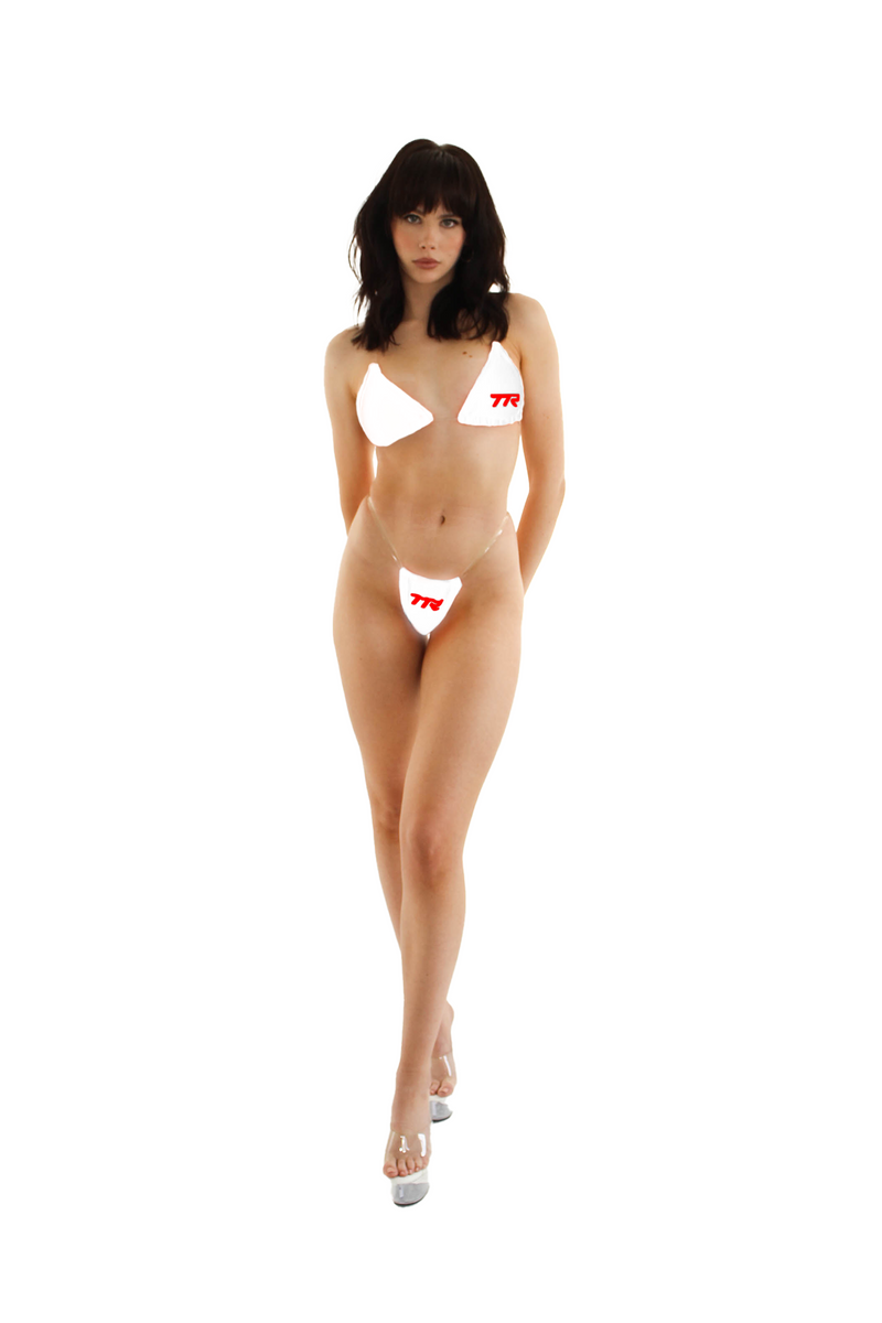 Apex Bikini Bottom - White/Red