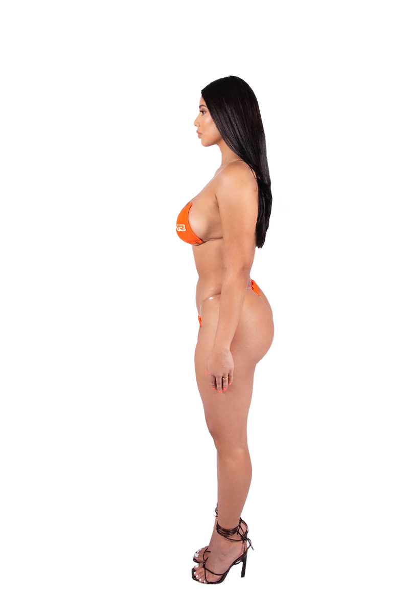 Digital Bikini Top - Orange/White