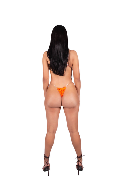 Apex Bikini Bottom - Orange/White