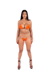 Apex Bikini Bottom - Orange/Red