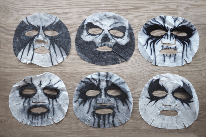 The second round of corpse paint mask pack prototypes