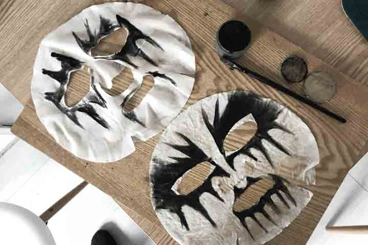 The first corpse paint mask prototypes