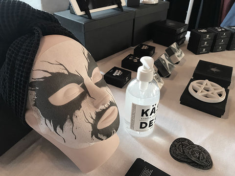 Kaamos Corpse Paint mask in Hellocon event