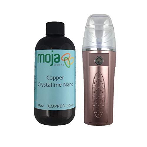 MOJA Facial Nano Mist Sprayer (Available in Multiple Colors) With Optional Moja Nano Colloidal Copper