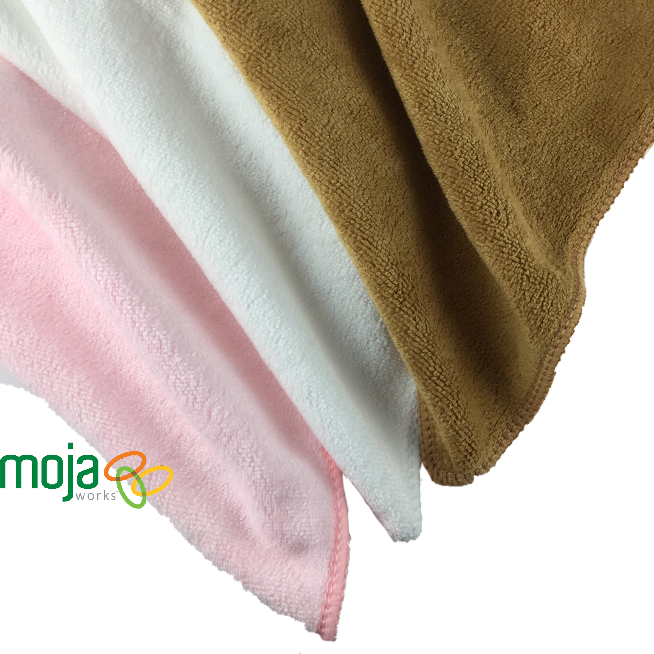 MojaFiber Microfiber Face Cloth - 3 Packs - Multiple Color Options