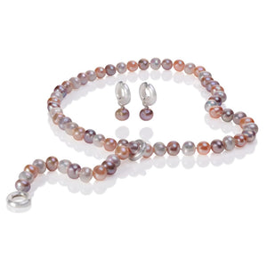 Multi-Colour Cultured Fresh Water Pearl Lariat