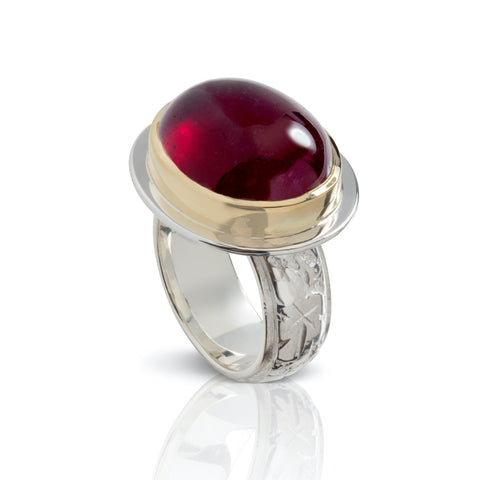 Oval Cabochon Ruby Ring