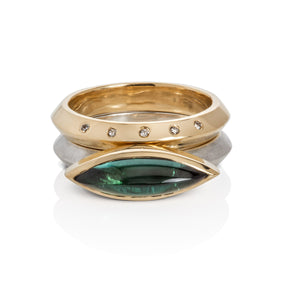 Chrome Green Tourmaline Stacking Ring Set