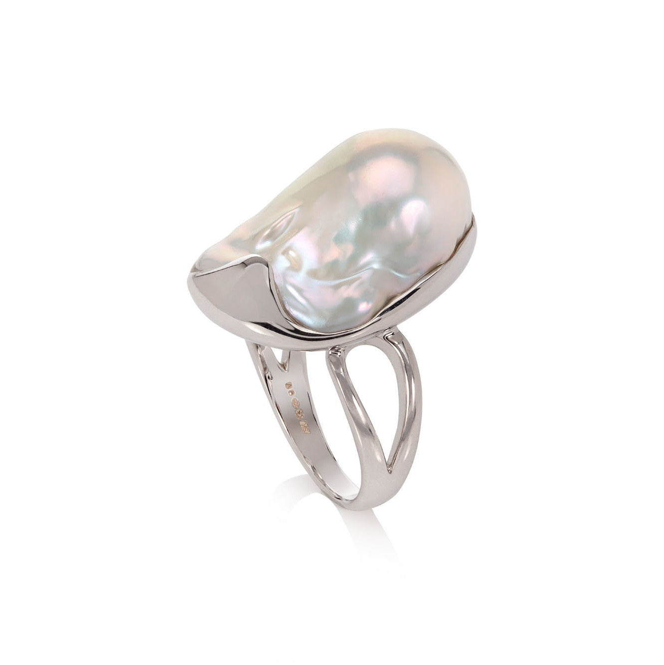 Unusual Baroque Pearl in Sterling Silver by Sabine Konig