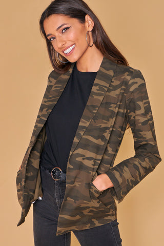 Camo Blazer With Pockets