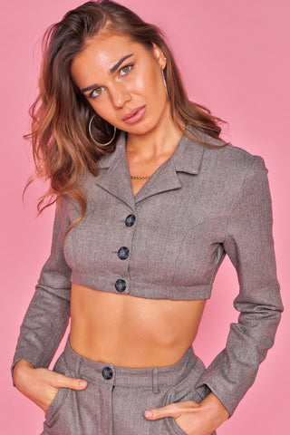 Cropped Tweed Cropped Jacket