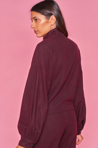 Burgandy Wool Top