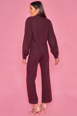 Burgandy Wool Trouser