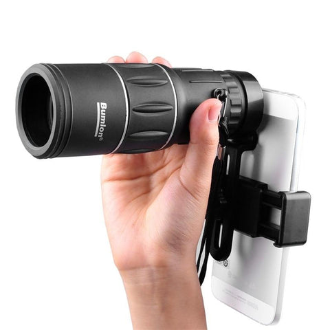 16X52 HD Monocular Telescope with Dual Focusing & Low Light Night Vision