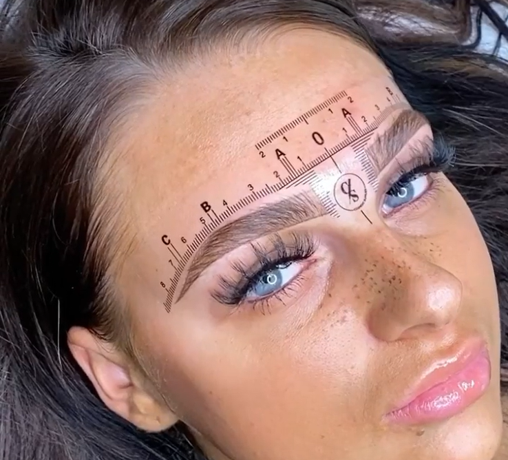 50pcs Eyebrow Mapping Rulers