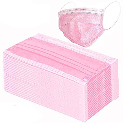 Type 1 Face Mask Pink - Pack of 50