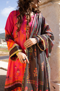 (Gold Zari) 3 Piece Unstitched Lawn