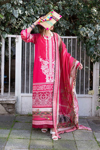 (Gold Zari) 3 Piece Unstitched Lawn Embroidered
