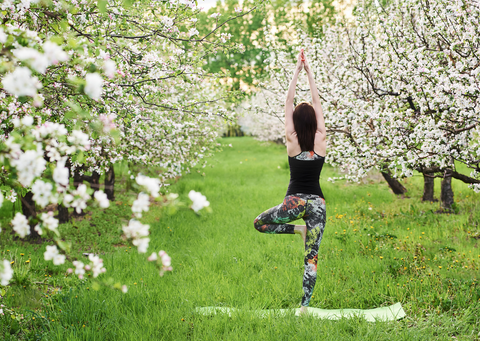 Yoga outdoors for health and happiness