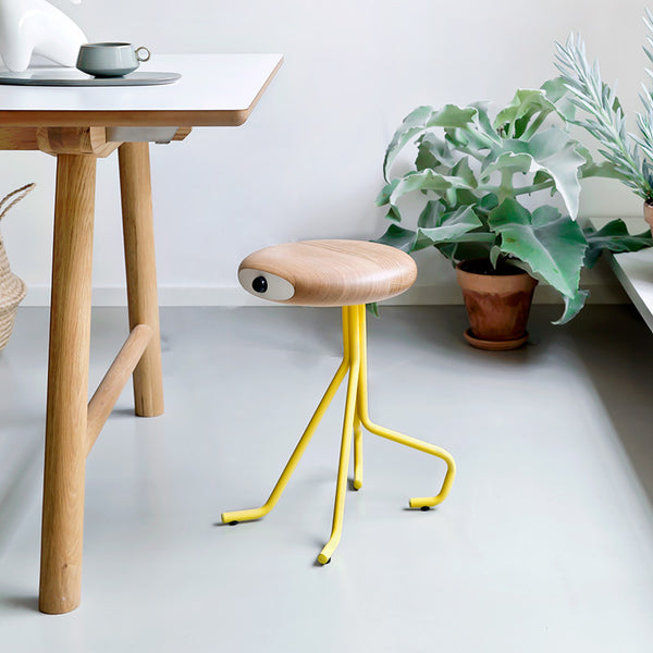 Companion 4 legs - yellow - oak seat