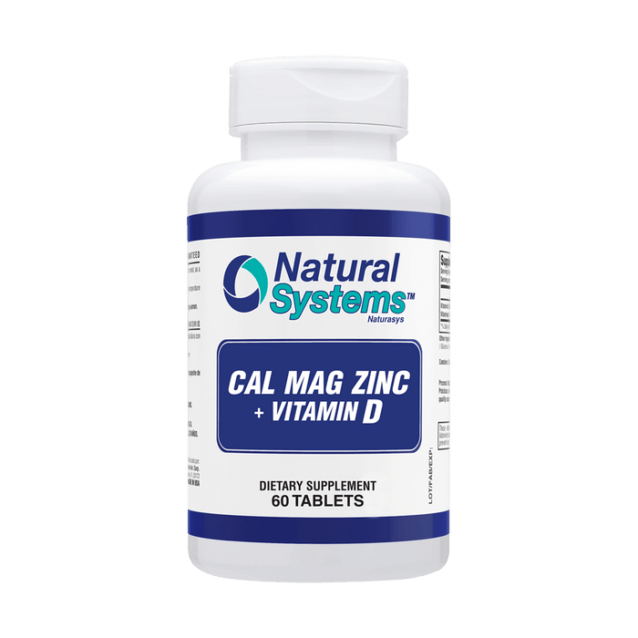 Cal- Mag-Zinc+ Vitamin D 60 Tablets / Natural Systems