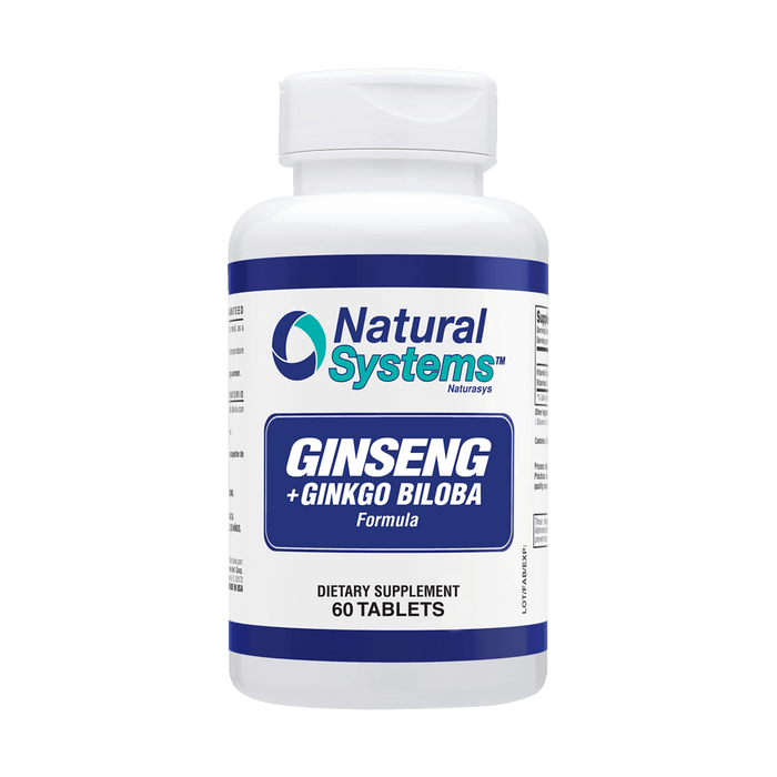 Ginseng Plus Ginkgo Biloba 60 Tablets / Natural Systems