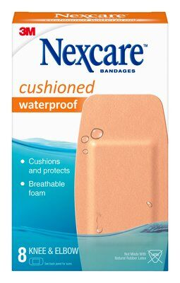 NexcareTM Cushioned Waterproof Foam Bandages, K & E 8 ct. 522-08c8 SKU 051131997172 -7100157176