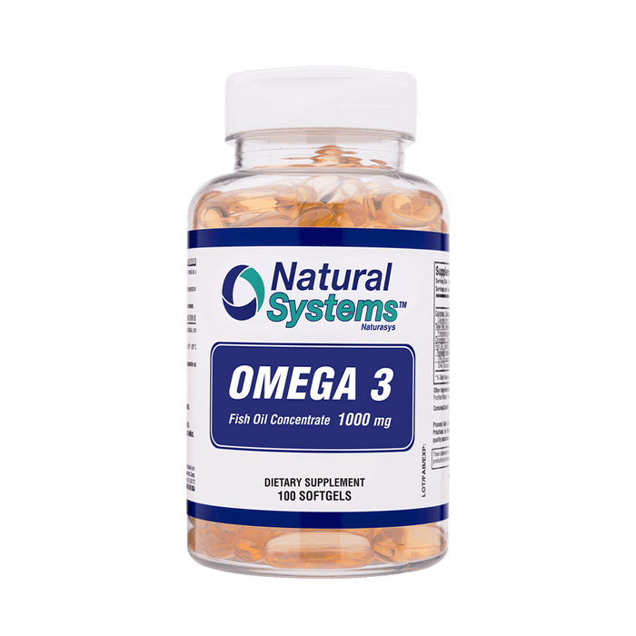 Natural Systems Omega III Fish Oil Concentrated 1000 mg 100 Softgels