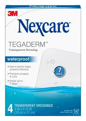Nexcare Tegaderm Waterproof Transparent Dressing 10 cm x 12 cm SKU 051131641136