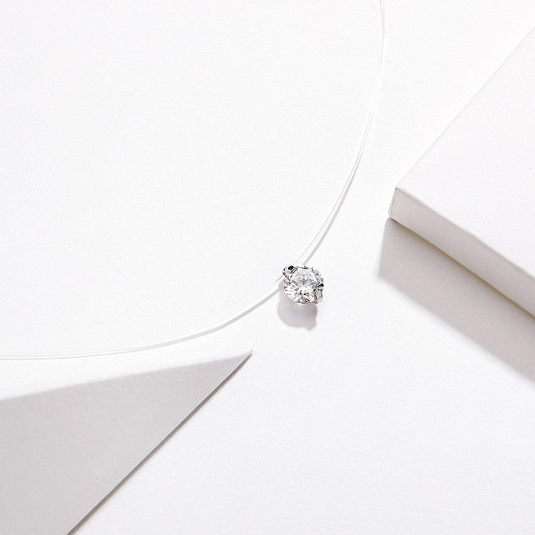 925 Sterling Silver Invisible Chocker Necklace